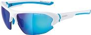 Sonnenbrille Alpina Lyron HR Rahmen weiß matt/cyan Glas blau versp.S3