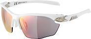 Sonnenbrille Alpina Twist Five HR QVM+ Rahmen weiß/sil.Glas Vario regenb versp.
