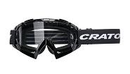 MTB Brille Cratoni C-Rage schwarz glanz, Scheibe transparent