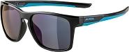 Sonnenbrille Alpina Flexxy Cool Kids I Rahmen black-cyan Glas blue mirror