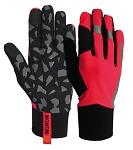 Handschuhe Early Fog Fluo Wowow reflekt. rot  Gr. M