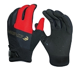Handschuh Chiba Viper lang Gr. M / 8, schwarz/rot