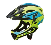 Fahrradhelm Cratoni C-Maniac Pro (MTB) Gr. S/M (52-56cm) gelb/blau glanz