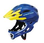 Fahrradhelm Cratoni C-Maniac (Freeride) Gr. L/XL (58-61cm) blau/gelb glanz