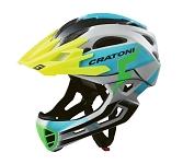 Fahrradhelm Cratoni C-Maniac Pro (MTB) Gr. L/XL (58-61cm) grau/blau matt