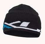 XLC Mütze Strick BH-H03 schwarz/weiß/blau