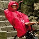 Regenponcho Hamax für das Kind im Sitz rot
