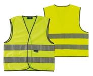 Sicherheitsweste Wowow Roadie gelb mit Reflexstreifen Gr.M m. Reißvers