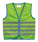 Sicherheitsweste Wowow Fun Jacket für Kinder grün mit Refl.-Streifen Gr. L