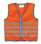 Sicherheitsweste Wowow Fun Jacket für Kinder orange mit Refl.-StreifenGr.M