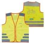 Sicherheitsweste Wowow Nutty Jacket für Kinder gelb mit Refl.-Streifen Gr.M