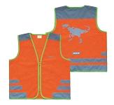 Sicherheitsweste Wowow Nutty Jacket für Kinder orange m.Refl.-Streifen Gr.XS