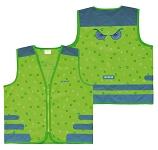 Sicherheitsweste Wowow Nutty Jacket für Kinder grün m.Refl.-Streifen Gr.M