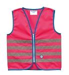 Sicherheitsweste Wowow Fun Jacket für Kinder pink mit Refl.-StreifenGr.S