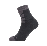 Socken SealSkinz Warm Weather Ankle Gr.S (36-38) schwarz/grau wasserdicht