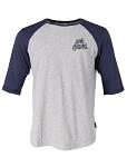 XLC Casual  Man Raglan 3/4 Arm Shirt Gr L grau/blau