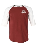 XLC Casual  Man Raglan 3/4 Arm Shirt Gr M rot/weiß