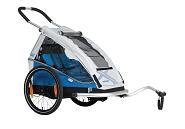 "Fahrrad-Kinder-Anhänger XLC Mod. 2018 20"" Mono 8teen blau/silber"