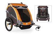 Fahrrad-Kinder-Anhänger Burley D`Lite Modell 2016 orange