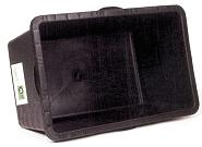 Kunststoffwanne Roland 90 ltr schwarz für Anhänger Big Boy und Der Roland