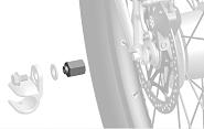 Adapter Thule für Nabenschaltungssysteme Sram Spectro FG 10,5x1,0