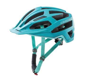Fahrradhelm Cratoni C-Flash (MTB) Gr. S/M (53-56cm) türkis/blau matt