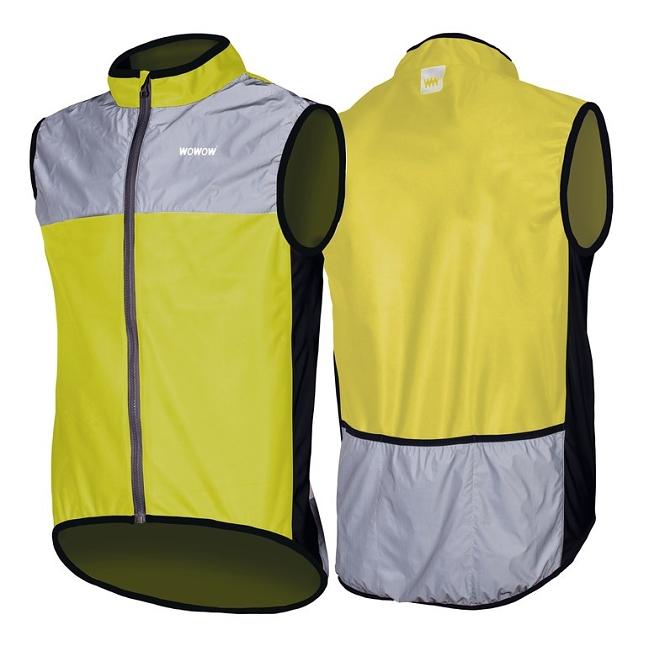 Wind-Jacke Wowow Dark 1.1 gelb/grau  reflektierend Gr.XL